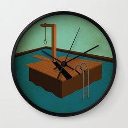 swimming death Wall Clock