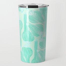 Garlics Pattern in Pastel Green Travel Mug