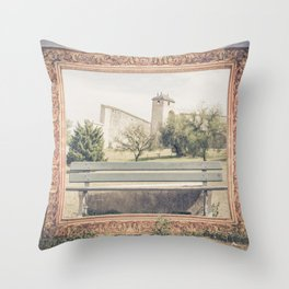 Into the frame BESANCON FRANCE Throw Pillow