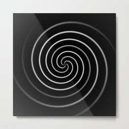 Licorice Swirl Metal Print