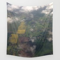 england Wall Tapestries featuring Goodbye England by Ashley Callan