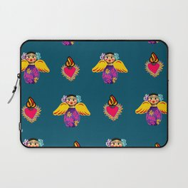 Mexican Angels and Hearts Cerulean Laptop Sleeve