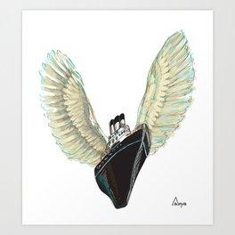 Angel's ship Art Print