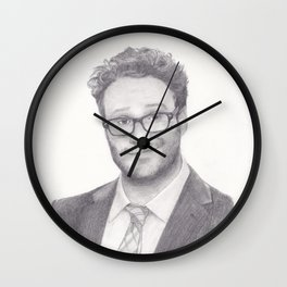 Seth Rogen Pencil drawing Wall Clock