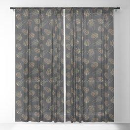 Trilobites - Marine Fossil Pattern Sheer Curtain