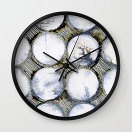 WATERCOLOUR DISCS: White Howlite (detail ) Wall Clock