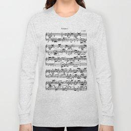 Sheet Music by Bach Long Sleeve T-shirt
