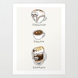 Slow Life Coffee Art Print