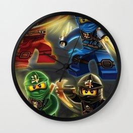 squad ninjago Wall Clock