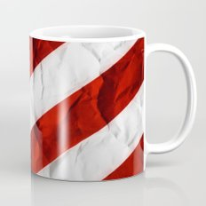 Crumbled Red Stripes Mug