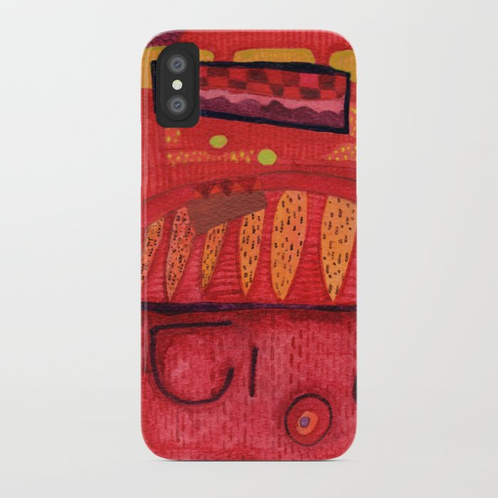 Fresco Design For A Red Dream Cathedral iPhone Case
