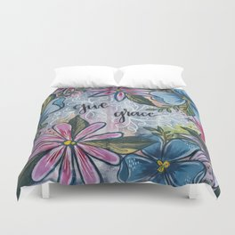 Give Grace Duvet Cover