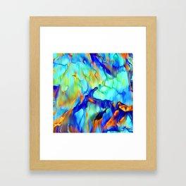 Cascading Waterfall Framed Art Print