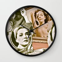 persona Wall Clocks featuring Persona - collage by Deborah Stevenson Photography