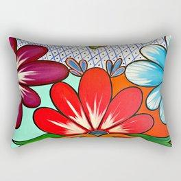 Talavera Tile Rectangular Pillow