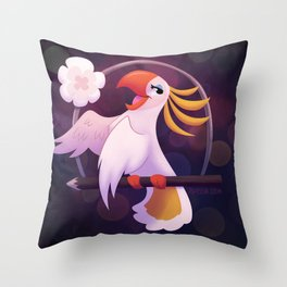 Cockatoo Choir Girl Throw Pillow