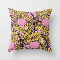 Lemon Pink Throw Pillow