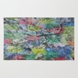 Absract colored painting 2 Rug