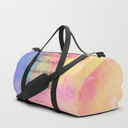 Psalm 46:1, God is our Refuge, Scripture Quote Duffle Bag