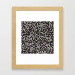 Crackle Magenta Suede Framed Art Print