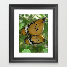 Butterfly mirror Framed Art Print