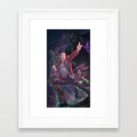 guardians of the galaxy Framed Art Prints featuring Guardians Of The Galaxy by Arashi.C