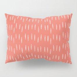 Boho, Raindrop, Mudcloth, Coral Pillow Sham