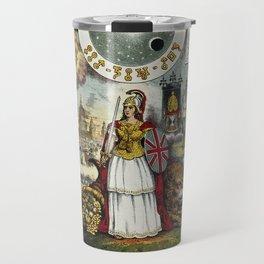 Raphael's Prophetic Almanack: Britannia, a mob by St Paul's, and the Boxer Rebellion (1841) Travel Mug