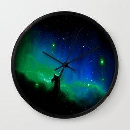 Horsehead nEBula. Blue & Green Wall Clock