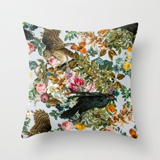 FLORAL AND BIRDS VI Throw Pillow