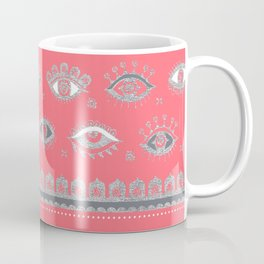 Eye Spy Coral Coffee Mug