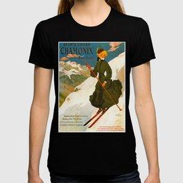 Vintage Chamonix Mont Blanc France Travel T-shirt