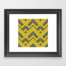 zig zag mustard Framed Art Print