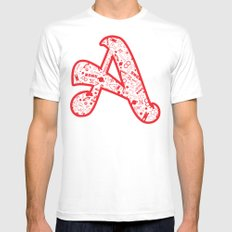 Scarlet A - Version 2 Mens Fitted Tee White MEDIUM