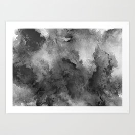 ink style of black watercolour texture Art Print