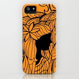 Para uma menina com uma flor iPhone Case