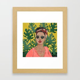 Summer Portrait Framed Art Print