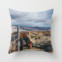 kerouac Throw Pillows featuring type-fast (kerouac had a first name) by heretosaveyouall