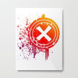 X vector Metal Print