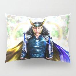 Loki - Ragnarok IV Blue Pillow Sham