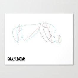 Glen Eden, Ontario, Canada - Minimalist Winter Trail Art Canvas Print