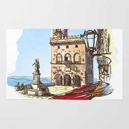 Sketches from Italy - San Marino Rug