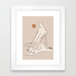 Nude 2 Framed Art Print