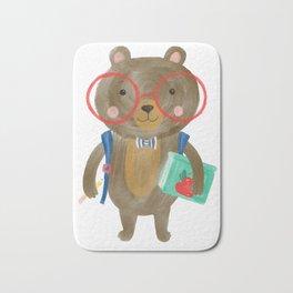 Back To School Bear Bath Mat