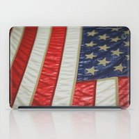 american flag iPad Cases featuring American Flag by alltheprettythings