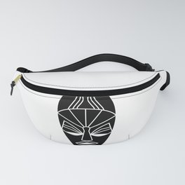 African black traditional tribal mask Fanny Pack