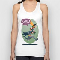 justice Tank Tops featuring JUSTICE! by stoopz