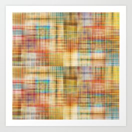 Multicolored patchwork mosaic pattern Art Print