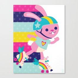 Jammer Bunny Rosa Canvas Print