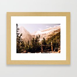 Up in the Mountains Framed Art Print
